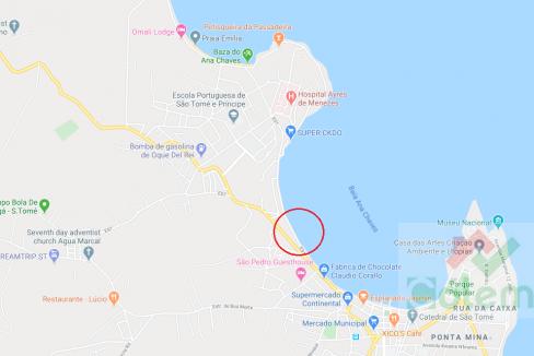 Casa colonial T2 vista mar marginal map